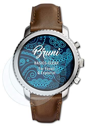 Bruni Schutzfolie kompatibel mit Fossil Q Explorist Folie, glasklare Bildschirmschutzfolie (2X)