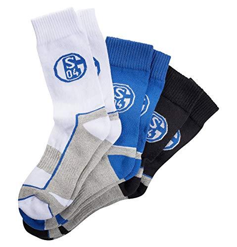 Schalke 04 Socken Sportsocke 3er Pack Gr. 39-42