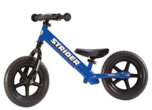 Image of Strider - 12 Sport Balance Bike, Ages 18 Months to 5 Years, Blue (Renewed)