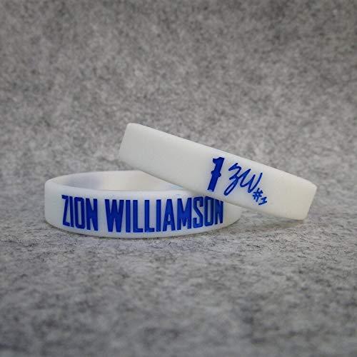 XiXi Pellicani n ° 1 Squadra Giocatori di Basket Sion. Williamson Firma Mano Luminosa Wristband di Sport di Anello di Silicone (Color : White, Size : 19CM)