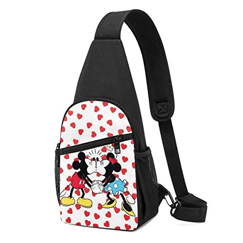 Boweike Sling Backpack Casual Mickey & Minnie Crossbody Daypack Shoulder Bag Chest Bag Rucksack