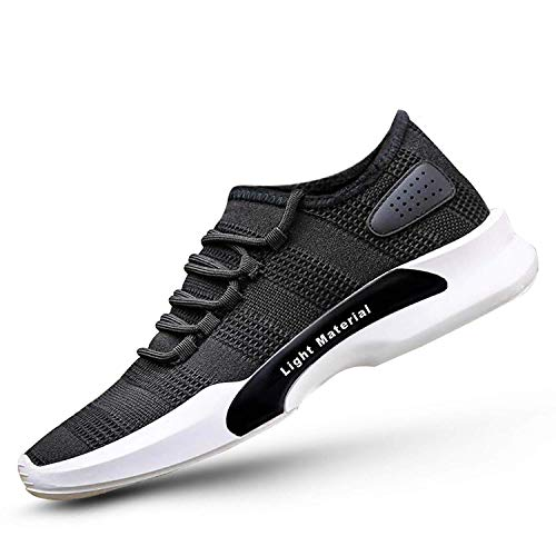 Neso Men's Black Men Spring Sole Series Mesh Smart Casual, Walking,Gymwear, Running Shoes (7 UK/India (EU 41), Black)