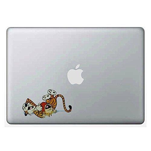 Adesivo para laptop Calvin and Hobbes Play Time compatível com MacBook Retina, MacBook Air, MacBook Pro Wicked Decals