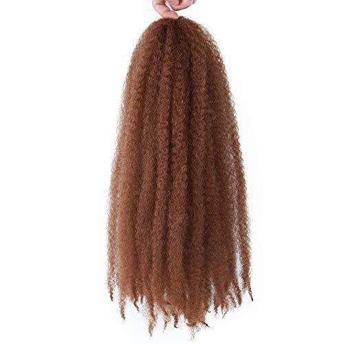 4 Packs Marley Hair Afro Kinky Curly Crochet Hair 18 Inch Long Marley Twist Braiding Hair Synthetic Marley Braids Hair Extensions for Women(30#)