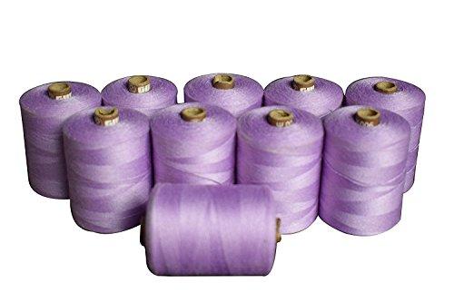 Winmaarc Polyester Filetage Définit – 823 m bobines de fils de connexion Lot de 10, Polyester, violet, 900 M