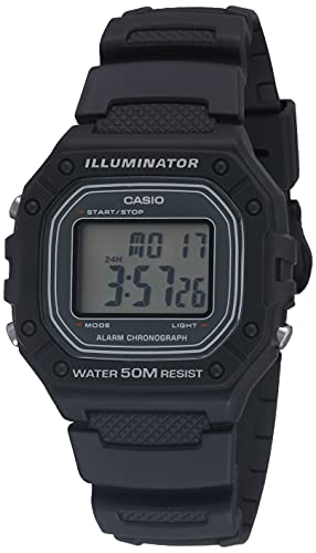 Casio Illuminator Quartz Resin Strap, Gray, 24.4 Casual Watch (Model: W-218H-8AVCF)