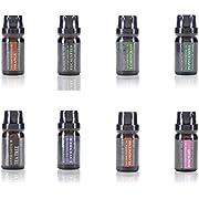 Wasserstein – Aceites esenciales para aromaterapia 100% puros – Set de regalo de aceites esenciales básicos (top 8, 10 ml) – de Wasserstein