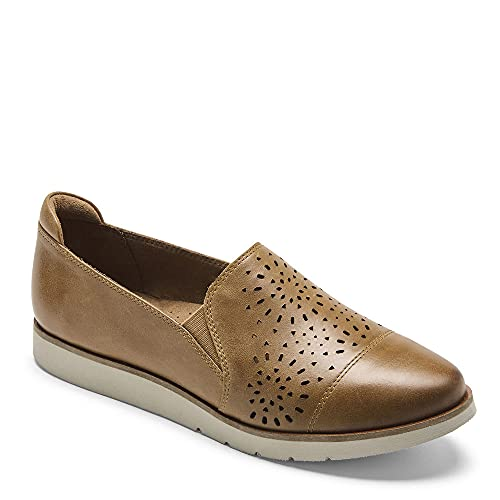 Cobb Hill Laci Twin-Gore Women's Slip-on Comfort Shoe Honey Leather - 9.5 Medium