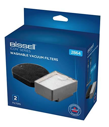 Bissell Filter-Set | Original Zubehör für ICON 2602N, 2602D, 2899N | 2864, Grau, Schwarz, 1