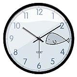 Boblen Reloj de Cuarzo de Silencio,Reloj de Pared de Dibujos Animados Lindo Simple,decoración de la Oficina en el hogar,batería Creativa Que Funciona con el Reloj de la habitación de los niños