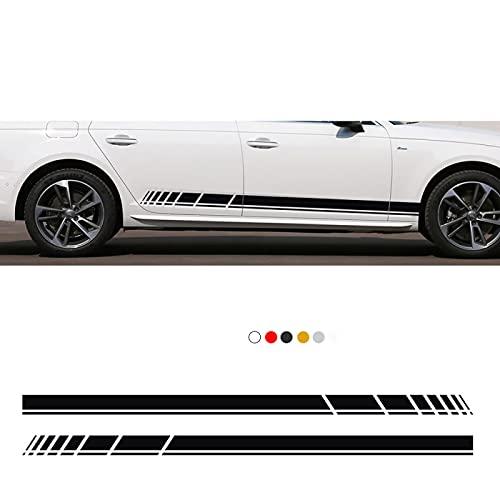 JJyuiop 2 uds, Pegatina de Rayas de Falda Lateral de Puerta de Coche, para Audi A4 B5 B6 B7 B8 A3 8V 8L A5 A6 C6 C5 C7 4F A1 A7 A8 Q1 Q3 Q5 Q7 TT Accesorios