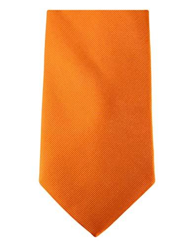 David Van Hagen Orange Diagonal côtelé cravate de