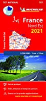 Northeastern France 2021 - Michelin National Map 707: Maps (Michelin National Maps)