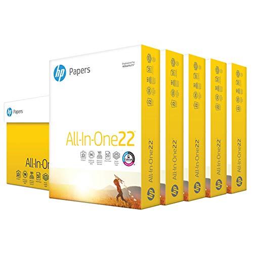 HP Printer Paper | 8.5x 11 Paper | All-In-One 22 lb | 5 Ream Case - 2,500 Sheets | 96 Bright| Made in USA - FSC Certified | 207000C