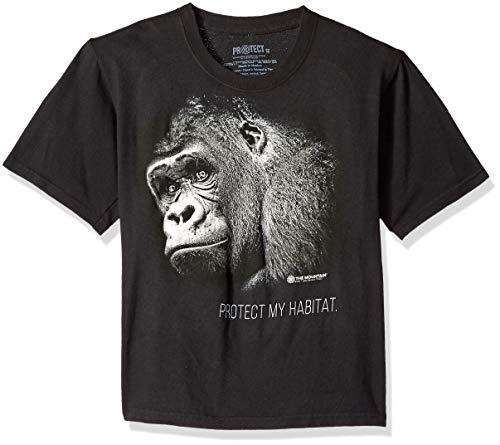 The Mountain Big Wildlife, Protect Gorilla's Habitat Kid's T-Shirt, Black, Medium