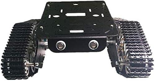 Homyl Smart Panzer Plattform Panzer Chassis Car Kit, einfach instaliert - 9V-Codescheibenmotor aus Kunststoff