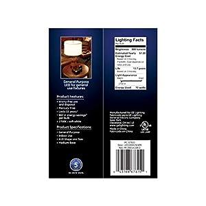GE Lighting 67615 LED A19 Light Bulb with Medium Base, 10.5-Watt, Soft White, 4-Pack, Piece