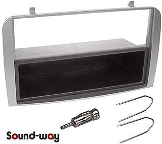 Sound Way - Kit Mascherina autoradio Stereo Alfa Romeo 147 1 DIN con cassettino o 2 DIN