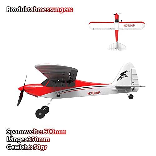 4-Kanal RC ferngesteuertes Cessna Flugzeug mit Gyroscope-Technologie und 180° Richtungswechsel, Sport Cub 500 Flieger mit Akku und Fernsteuerung, Komplett-Set