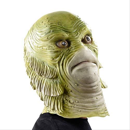 Halloween Maske Unheimlich Monster Latex Fisch Masken Kreatur Aus Der Schwarzen Lagune Cosplay Merman Maskerade Party Mascara Horror Maske