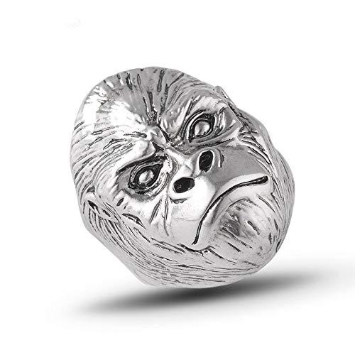 BQZB Ring Gorilla Ring Tier Ring Aufstieg des Planeten der Affen Punk Biker Caesar Ring für Mann Mode Vintage Persönlichkeit Schmuck