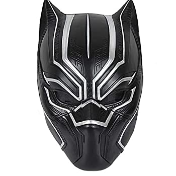 Resin Black Panther Mask Cosplay Helmet Full Face Protection Mask Halloween Masquerade Party Movie Character Props