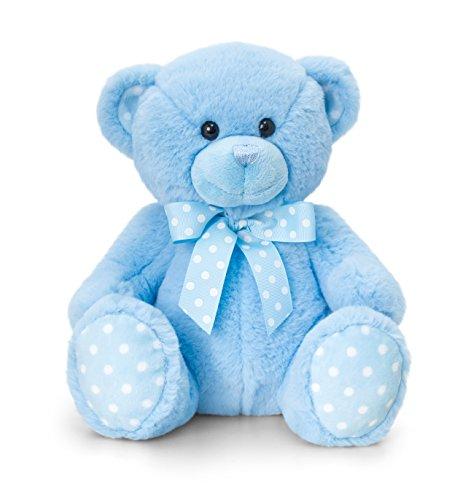Keel Toys Cuddles Baby Bear Blue 25cm