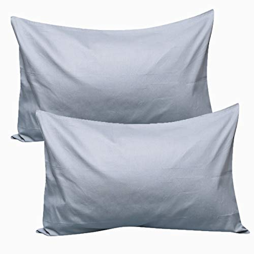 UOMNY Kids Toddler Pillowcases100% Natural Cotton Travel Pillowcase Cover with Envelope Closure 2 Pcs 14x20 Baby Pillow Cases for Sleeping Kids Solid Pillowcases Dark Gray Kids' Pillowcases