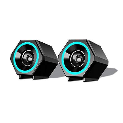 Altavoces con Cable De Cine En Casa (HDMI, ARC/CEC, Potencia De Salida Total Máxima: 3 W, 10.4 Cm), Color Negro, Altavoz Circular Compacto con Cable, Negro, 10.4x9.2x8.1 Cm (Color : Bluetooth)