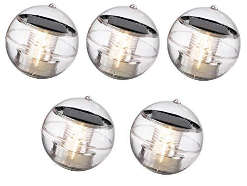 5 x schwimmende LED Solarkugel mit 11 cm Durchmesser