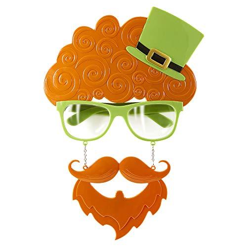 Widmann wid14405 ? Lunettes Fête de la Saint-Patrick avec moustache et papillon, orange, taille unique
