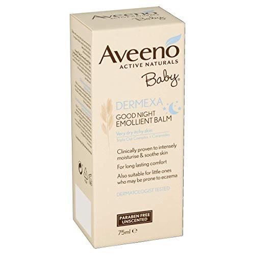 Aveeno Baby Dermexa Good Night Emollient Balm, 75 ml