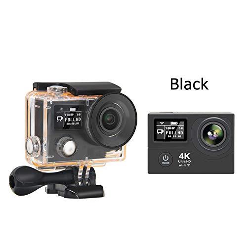 ZYJANO Caméra Sport Caméra d'action 4K WiFi Ultra HD 170D Go 30M étanche Mini Cam Pro Double écran Sport caméra Style de héros Hero 4