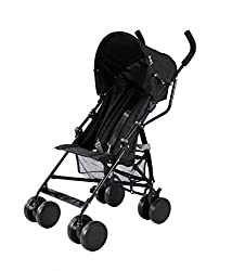 Suitable from 6 months Includes shopping basket and raincover Lockable front swivel wheels. Detachable hood Deep padded seat allows slightly older babies Padded handles for extra comfort