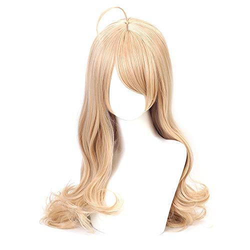 OSIAS Kaede Akamatsu Cosplay Wig, Danganronpa Cosplay Wig, Anime Cosplay Wig with Free Cap