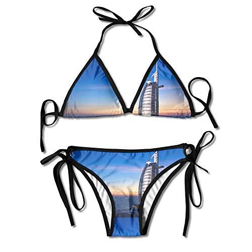 Dubai Burj Al Arab Bikini Women's Summer Swimwear Triangle Top Bikinis Swimsuit Sexy 2-Piece Set