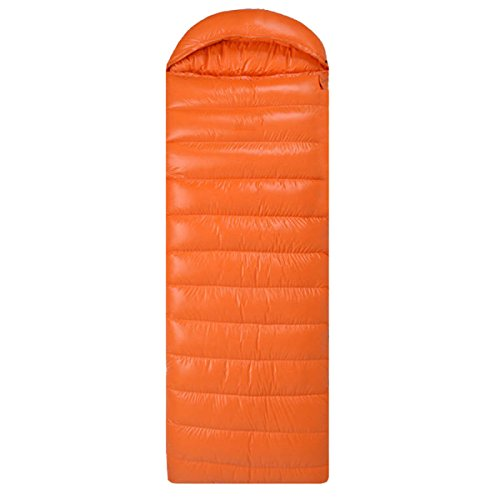 Xin.S Tous Les Sacs De Couchage Enveloppés à Capuchon Toute Saison Parfait Pour Le Camping Le Sac à Dos Le Trekking La Coquille Imperméable Résistante à L'eau. Multicolore,Orange-(180+30)*80cm(1.5kg)