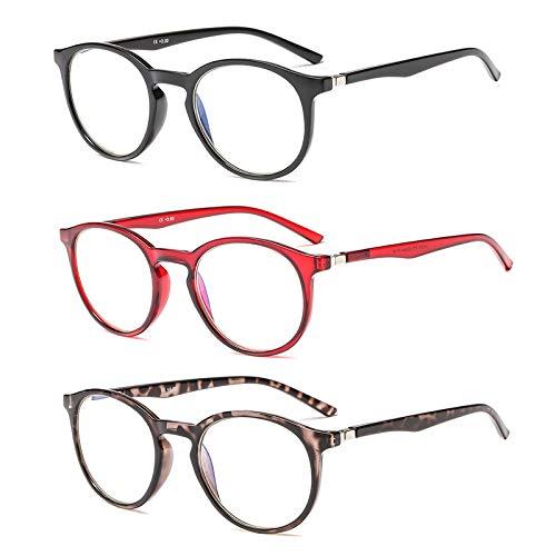 Suertree Blaulicht Brille Blaulichtfilter Lesebrille 3 Pack Computer Brille Herren Damen Anti Rays Lesebrillen Fashion Leser 3.5X JH252