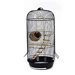 KSW_KKW Bird Nest Large Metal Simple European Round Pet Bird Villa Indoor Outdoor Bird Hanging Cage