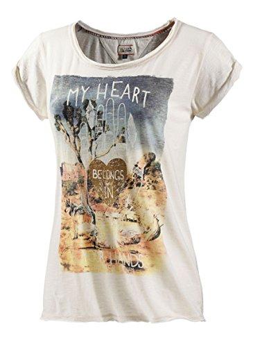 Tommy Hilfiger Lanice CN Camiseta, Beige (Egret PT 003), 40 para Mujer