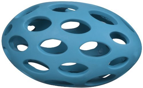 JW Pet Company Hol-ee Football Size 8 Rubber Dog Toy, Large, Colors Vary by JW Pet