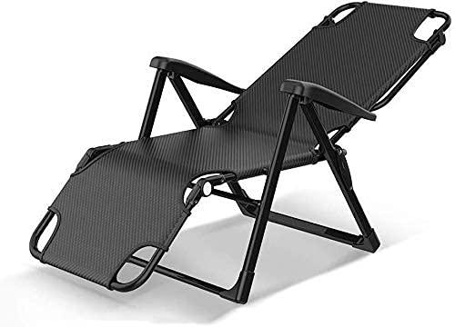 HJRBM Sillas Plegables Sillón reclinable Silla Plegable Pausa para el Almuerzo Cama...