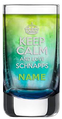 Schott Zwiesel Schnapsglas [Paris] mit individueller Gravur [Name] und [Motiv - Keep Calm and Love Schnaps] - MeinGlas