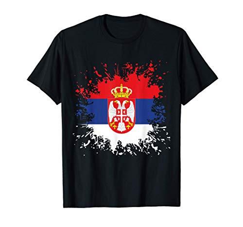 Serbien Flagge Serbische Fahne Fußball Fan T-Shirt