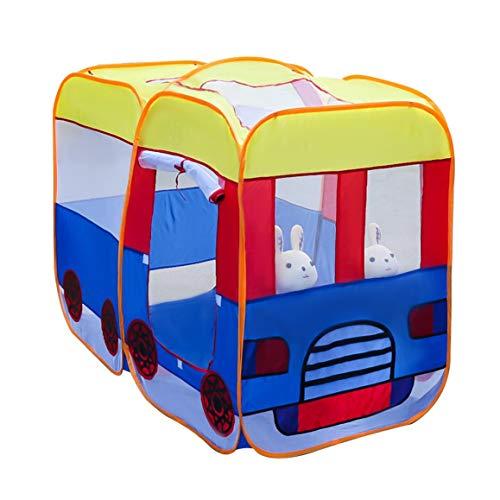 LAMPSJN Spielen Kids House Kinder-Spiel-Zelt, Bus Castle Playhouse Faltbare Indoor Outdoor Schlafzimmer-Dekoration, Geburtstag New Year Geschenke Beruhigender Kinder-Tipi (Color : Bus)