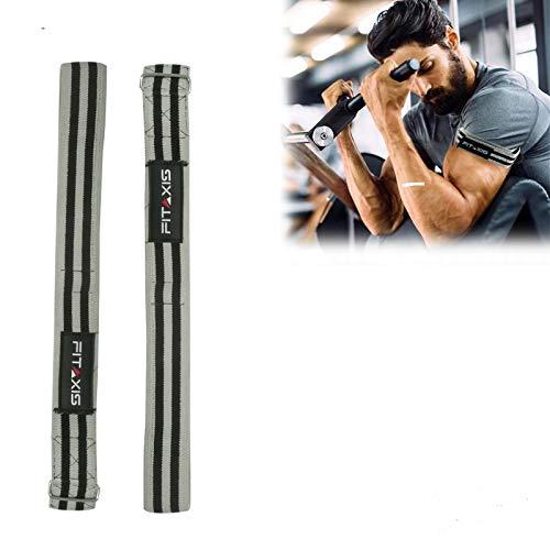 Bandas de entrenamiento Fitaxis Occlusion para la recuperación muscular de brazos, piernas, carámbanos, Medium, Gris/Negro
