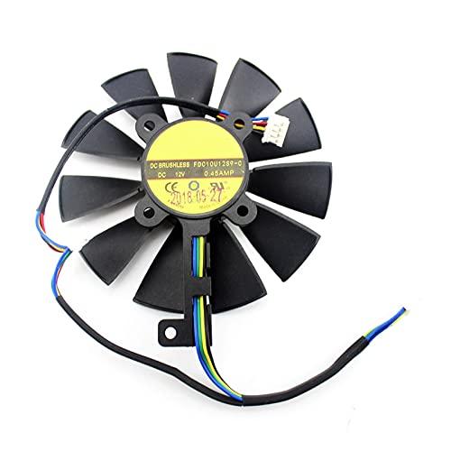 87mm FDC10U12S9-C FDC10H12S9-C para ASUS GTX 980 TI R9 390X 390 GTX 1060 1070 1080 TI RX 480 RX480 Tarjeta de gráficos Ventilador de refrigeración (Blade Color : 6PIN)