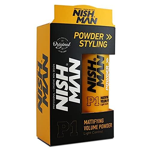 NISHMAN P1 Volume Powder Mattifying Styling - Polvo matificante, 20 g