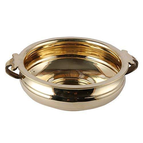 5Elements Premium Brass Plain Urli Utensil Best for Home & Office Decoration & Gift Purpose Handicraft (8 Inch)
