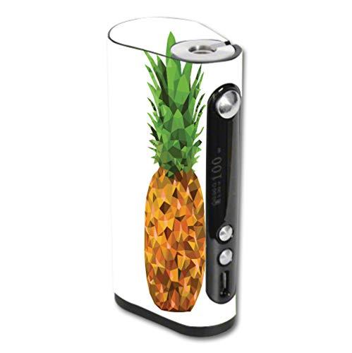 Decal Sticker Skin WRAP Yellow-Polygon-Pineapple-Design for Vape Forward Vapor Flask Stout 100W TC